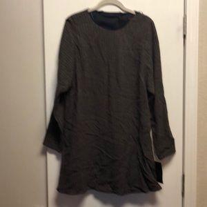 Long sleeve darker pattern dress